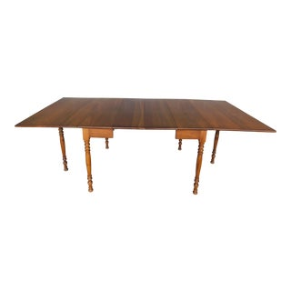 """L & J G Stickley Cherry Valley Drop Side Dining Extension Table 90""""w For Sale"""