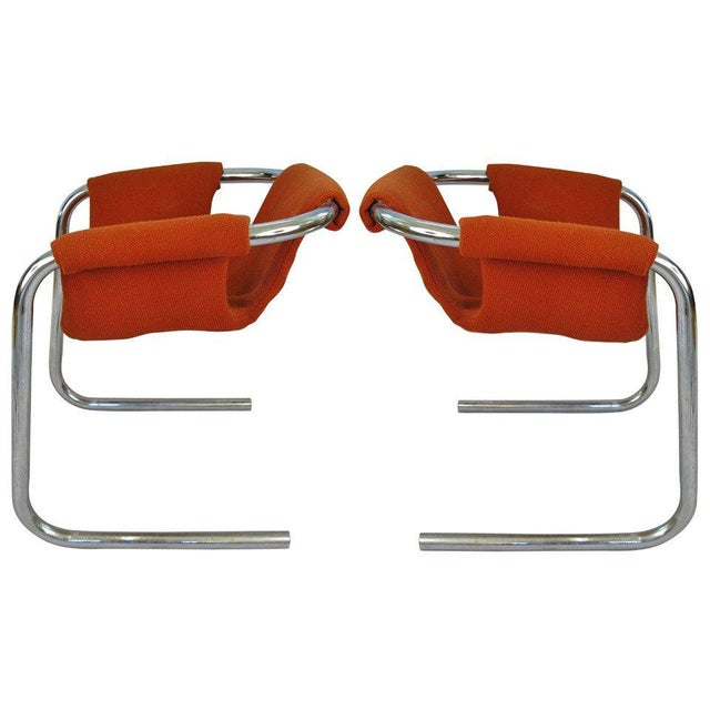 1950s Chrome Base Zermatt Chairs - a Pair For Sale In New York - Image 6 of 6