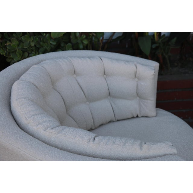 Milo Baughman Style Swivel Chairs - A Pair For Sale - Image 4 of 10