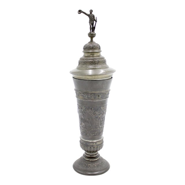 English Renaissance Style Pewter Chalice For Sale