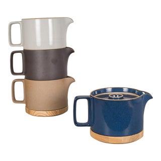 Hasami Porcelain Tea Pot With Ash Lid/Trivet For Sale