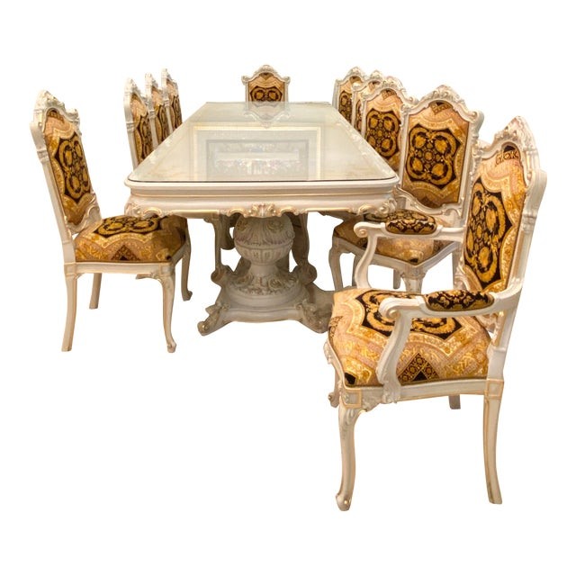 Rococo Italian Dining Set - 11 Pieces For Sale