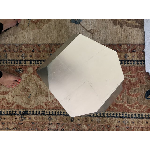 Silver Minimalist Baker Quarry Accent Table For Sale - Image 8 of 9
