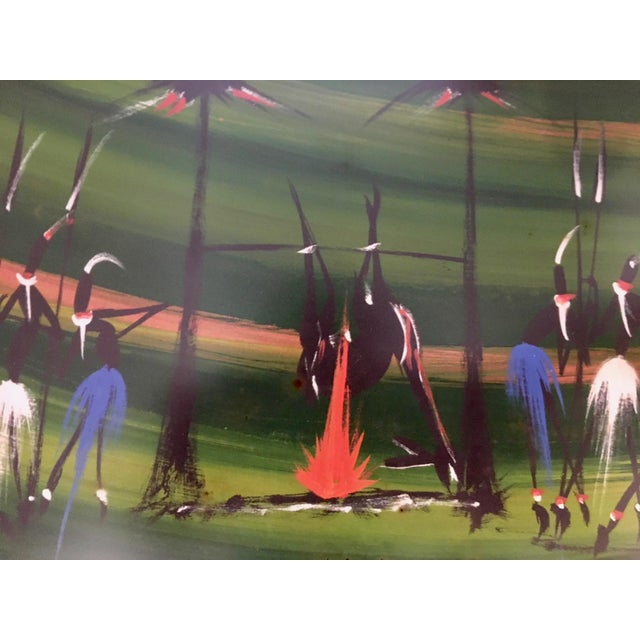 Stylized African Scenes Paintings - a Pair - Image 3 of 8