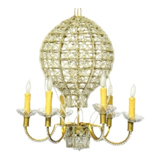 Hot Air Balloon Form Crystal Bead Chandelier