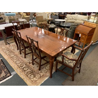 Wright Furniture Company Extension Table + Chippendale Style Chair Dining Set Preview
