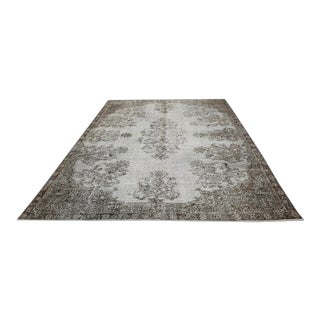 Oushak Rug-7'8'' X 10'5'' Overdyed Rug,Carpet Rug,Rugs,Gray Rug,Gray Carpet Rug,Vintage Carpet,Carpet,Oversize Rug,Rug For Sale