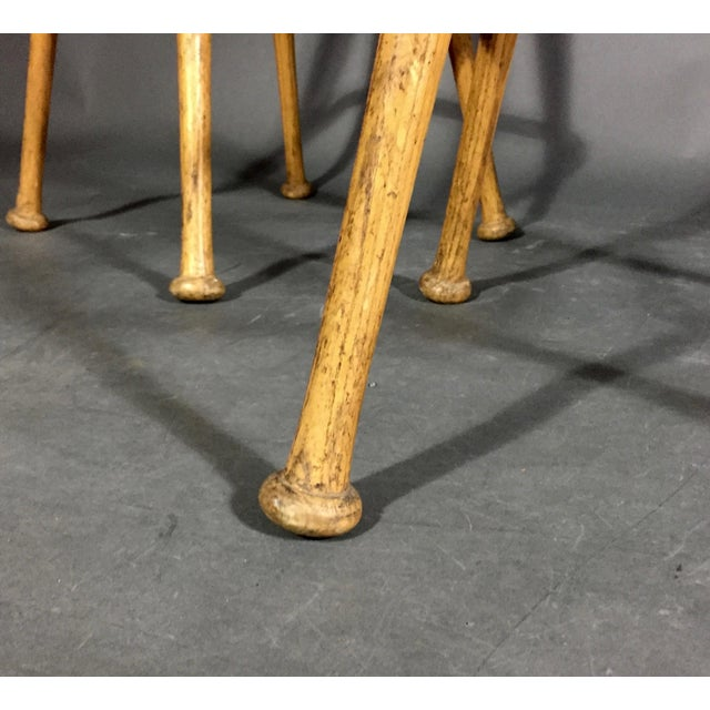 """Pair 1980s Baseball Bat 31.5"""" Stools, Vintage Plate Seats For Sale - Image 9 of 10"""