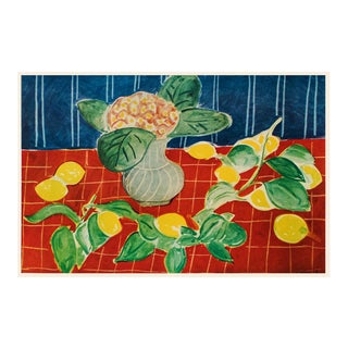 """1940s Henri Matisse """"Lemons"""", First Edition Period Swiss Lithograph For Sale"""