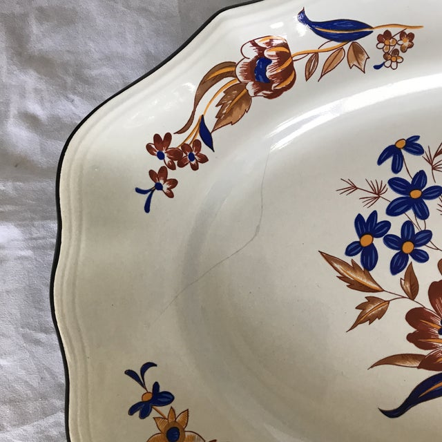 """French Faience Luneville """"Paquerette"""" Serving Dish For Sale In Los Angeles - Image 6 of 7"""