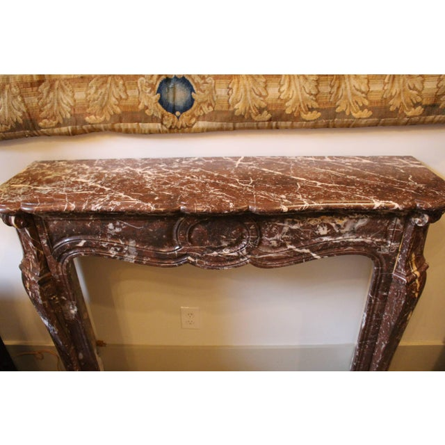 Chocolate French Louis XV Style Marble Mantel For Sale - Image 8 of 9