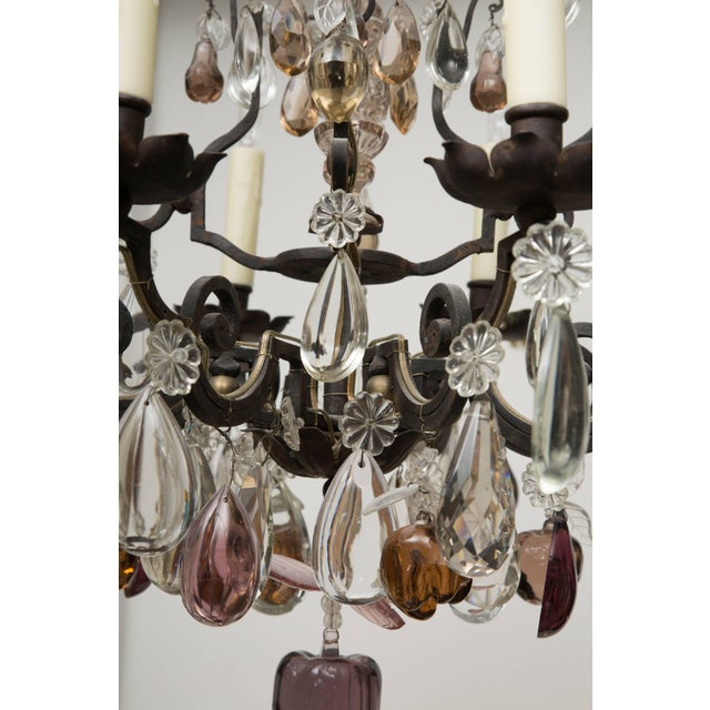 Early 20th Century French Eight-Light Chandelier With Multi-Form Pendants For Sale - Image 5 of 8