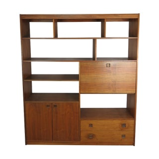Mid-Century Modern Rosewood Bookcase For Sale