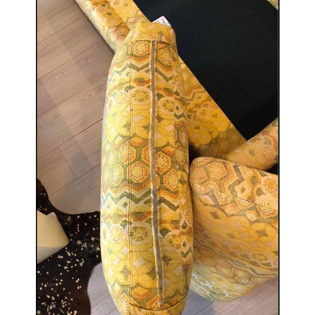 Milo Baughman for Thayer Coggin Woven Jacquard Sofa For Sale In Miami - Image 6 of 8