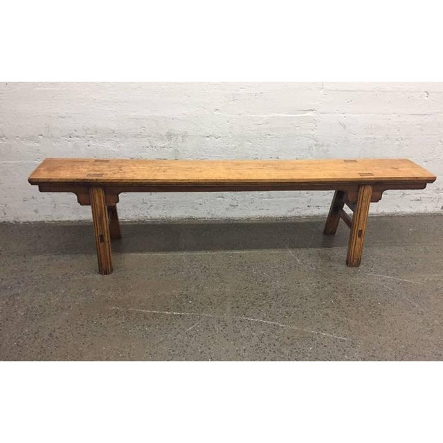 Surprising Pair Of 19Th Century 84 Long Elmwood Chinese Benches Gmtry Best Dining Table And Chair Ideas Images Gmtryco