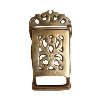 Vintage Brass Match Holder