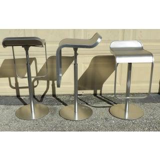 Adjustable Height & Swivel La Palma Italian Metal Modern Bar Stools - Set of 3 Preview
