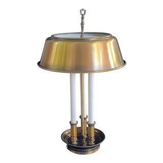 Art Deco Tole Bouillotte Style 3 Arm Desk / Table Lamp For Sale