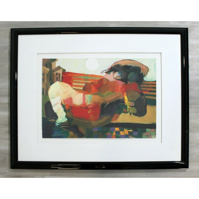 Lithograph Contemporary Framed Serigraph Signed by Hessam Abrishami Spring Affair 231/395 For Sale - Image 7 of 7