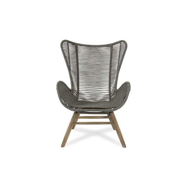 Modern Neptune Outdoor Patio Lounge Chair and Ottoman Set, Slate Gray For Sale - Image 3 of 6