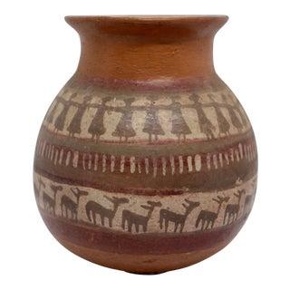 20th Century Primitive Ceramic Vase For Sale