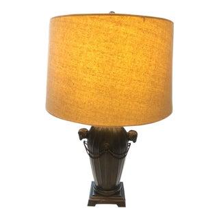 Hollywood Regency Metal Ram's Head Lamp For Sale
