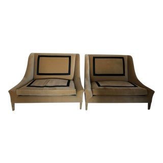 Pair of Ochre Snooze Slipper Chairs For Sale