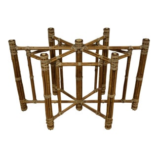 Bamboo Dining Table Base by McGuire For Sale