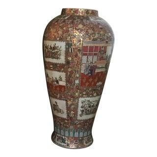 Chinese Rose Mandarin Floor Vase For Sale