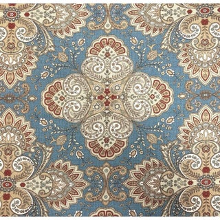 Italian Lee Jofa Italian Paisley Linen Designer Fabric by the Yard For Sale