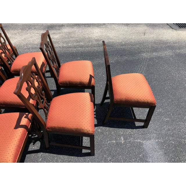 Late 20th Century Chippendale Style Dining Chairs - Set of 10 For Sale - Image 5 of 13