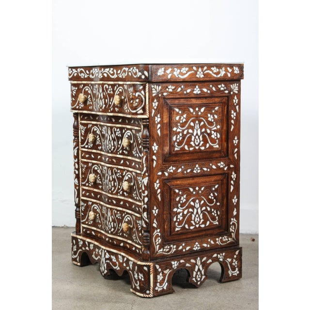 Pair of Syrian Mother-Of-Pearl Inlay Nightstands For Sale - Image 9 of 10