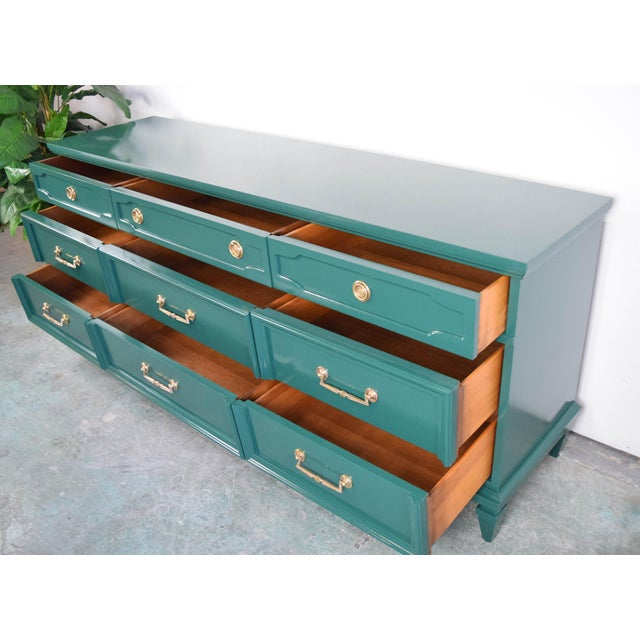 19th Century Modern Hunt Club Gloss Lacquer Green Dresser For Sale - Image 9 of 10
