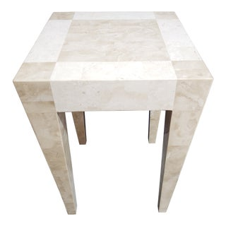 Mid-Century Modern Maitland Smith Tesselated Stone Side Table For Sale