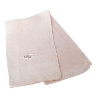 Vintage Fine Cotton Pink Crocheted Guest Towel