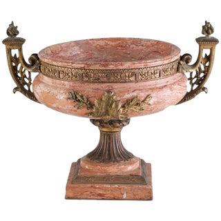 19th Century Italian Gilt Bronze Marble Urn For Sale