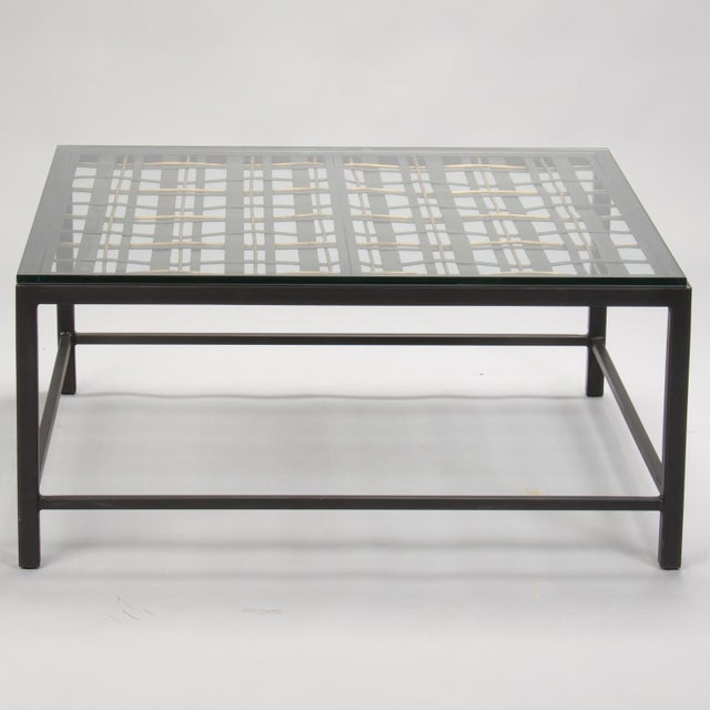 Custom Coffee Table Made from French Decorative Metal Grill For Sale - Image 9 of 9