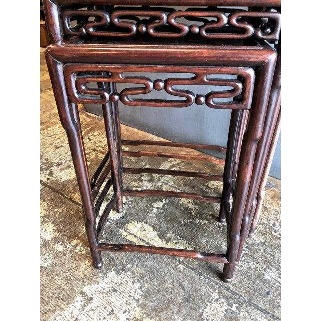 Chinese Rosewood Nesting or Quartetto Tables - Set of 4 For Sale In Los Angeles - Image 6 of 10