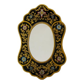 Hand-Painted Accent Mirror For Sale