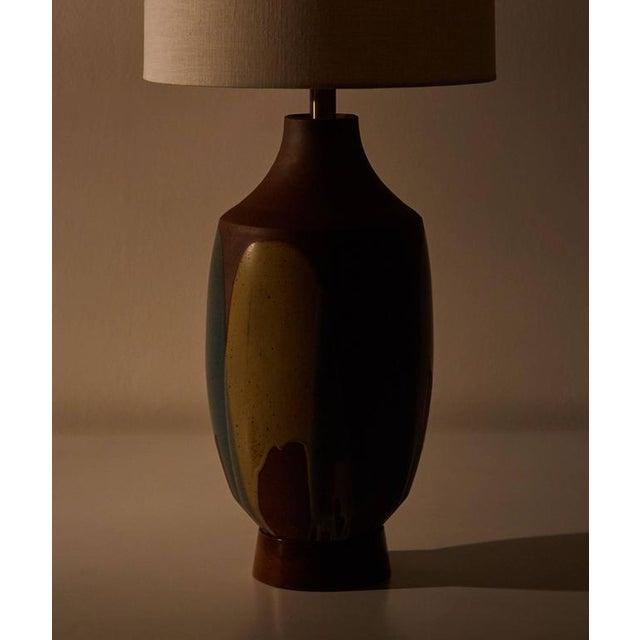 Ceramic Drip Glaze Table Lamp by David Cressey - Image 3 of 6