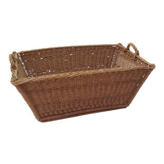 French Woven Wicker Market Basket