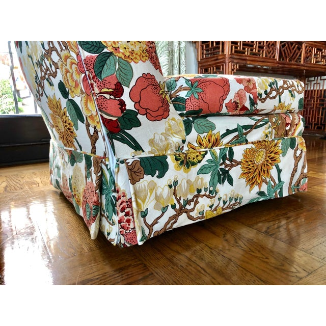 Floral Slipper Chairs - A Pair For Sale - Image 4 of 9