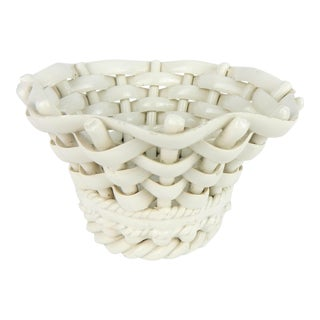 Capodimonte Woven Porcelain Basket For Sale