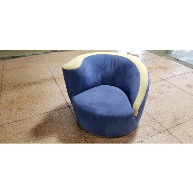 Beautiful Vladimir Kagan Swivel for Weiman For Sale In New York - Image 6 of 6