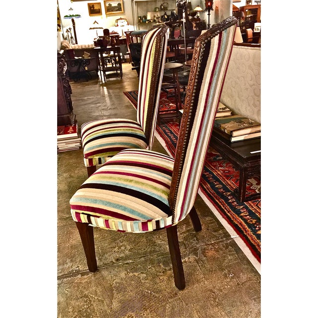 Mid-century Modern High Back Side Chairs - Pair - Image 6 of 7