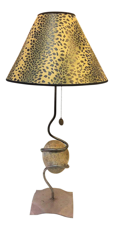 Festa Co River Rock Table Lamp Chairish