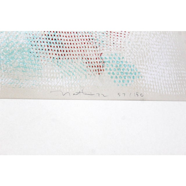 Mid-Century Modern Framed Abstract Litho Robert Natkin Dated 1970s For Sale In Detroit - Image 6 of 8