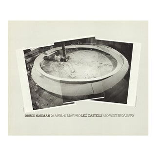 Bruce Nauman_Smoke Rings_Offset Lithograph_1980 For Sale