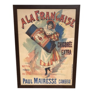 Early 20th Century Antique French Belle Epoque Advertising Poster For Sale