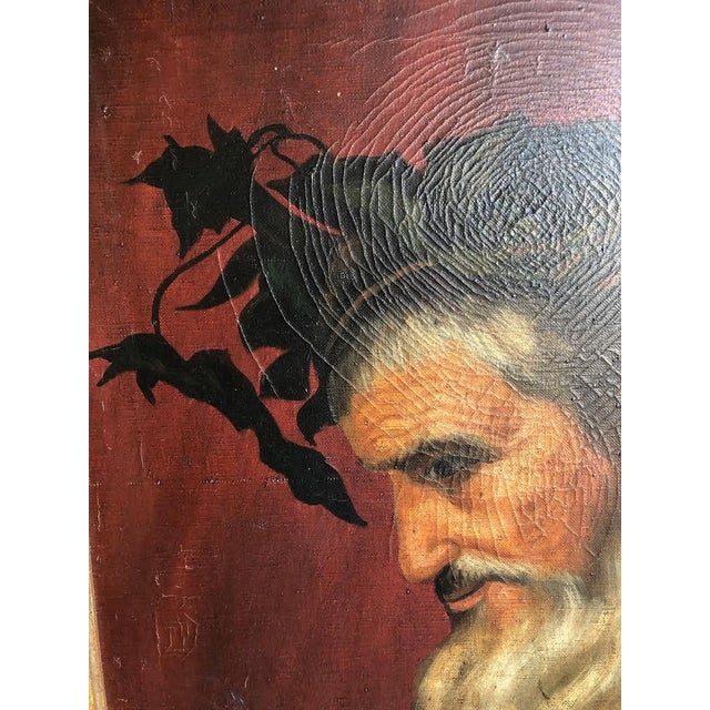"1950s ""Head of Bacchus"" Oil Painting by Ignacio Beller For Sale - Image 5 of 10"